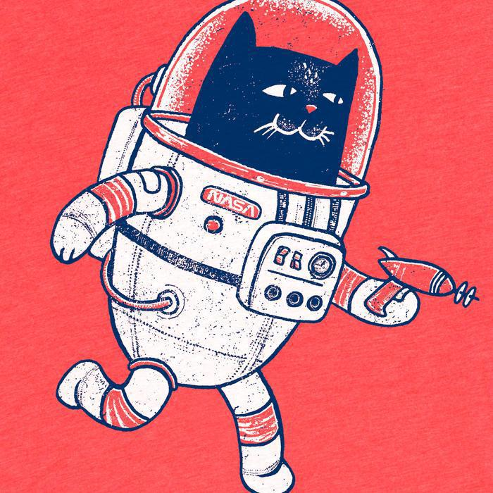 Adult SPACE CAT(SP) Crew Neck Tee by Factory 43
