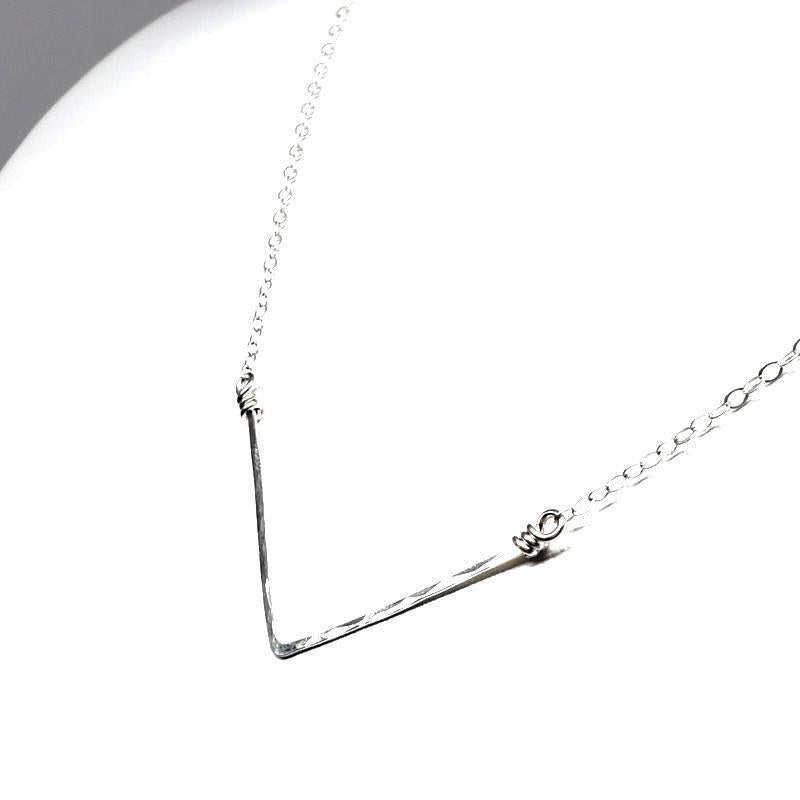 Necklace - Chevron Sterling Silver by Foamy Wader