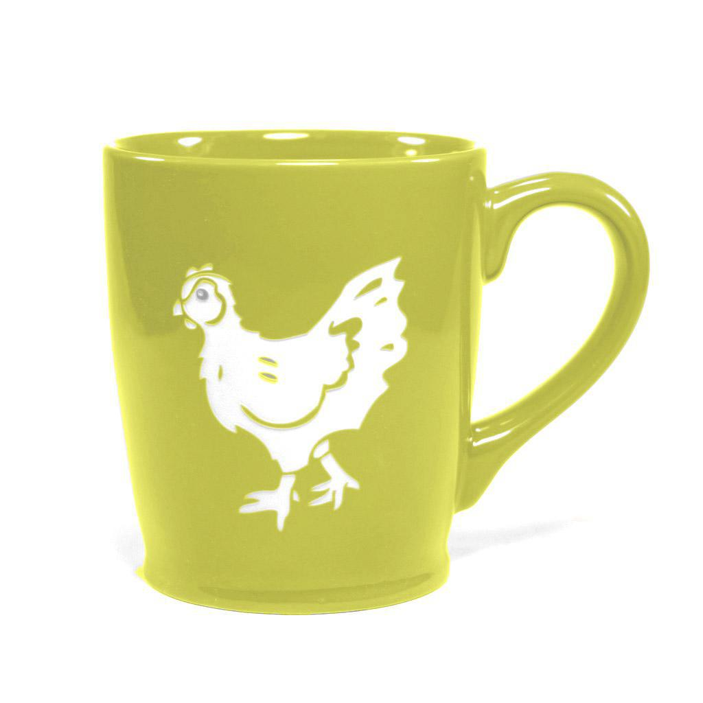 Mug - 16oz Green Chicken (Retired) by Bread & Badger