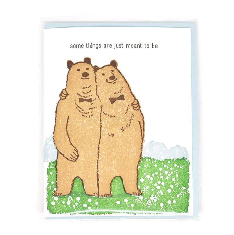 Card - Wedding - Bears Meant To Be by Ilee Papergoods
