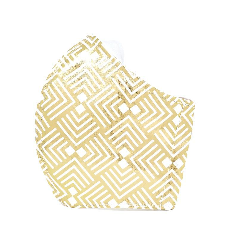 Medium - Metallic Gold and White Geometric White Lining by imakecutestuff