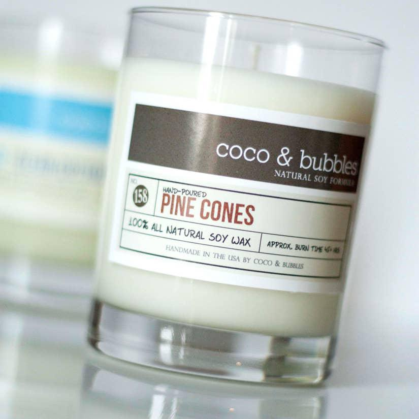 Candle 13oz - Pine Cones by Coco & Bubbles