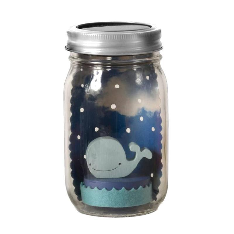 Solar Light - Mason Jar Whale by Tree by Kerri Lee