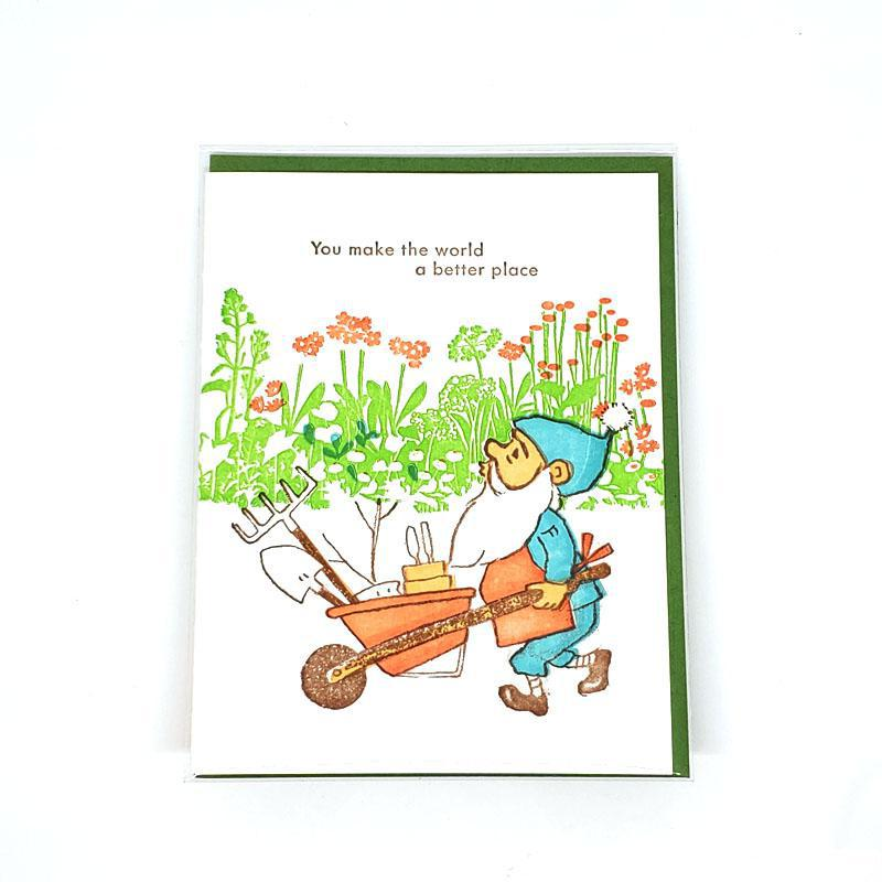 Card - Love & Friends - Garden Gnome by Ilee Papergoods