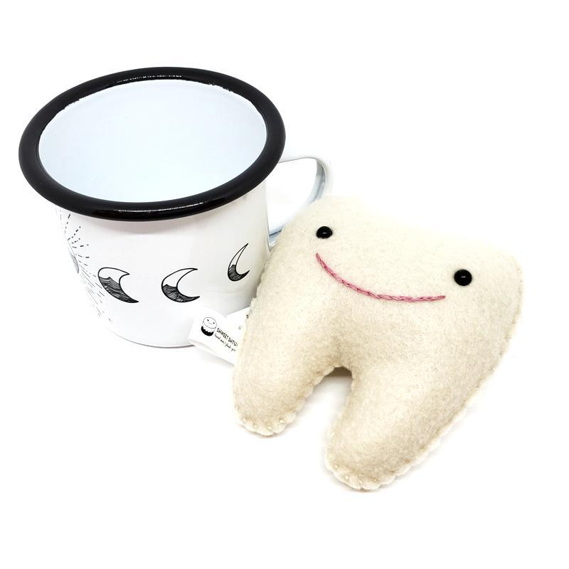 Gift Bundle - Tooth Fairy Plush Solstice Mug featuring Red Umbrella and Shweet Shtuff