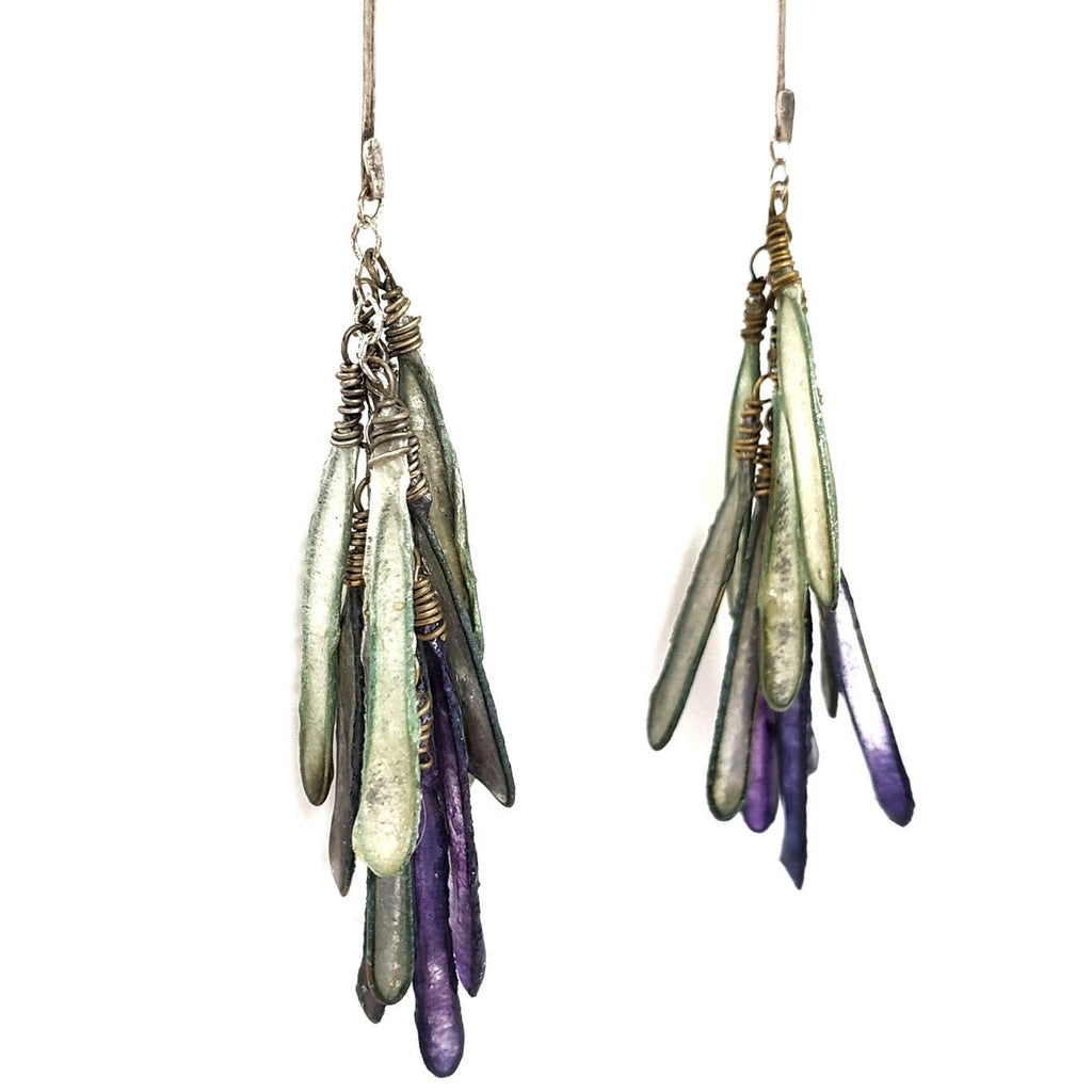 Earrings - Lilac Ombre Medium Dragonfly by Verso