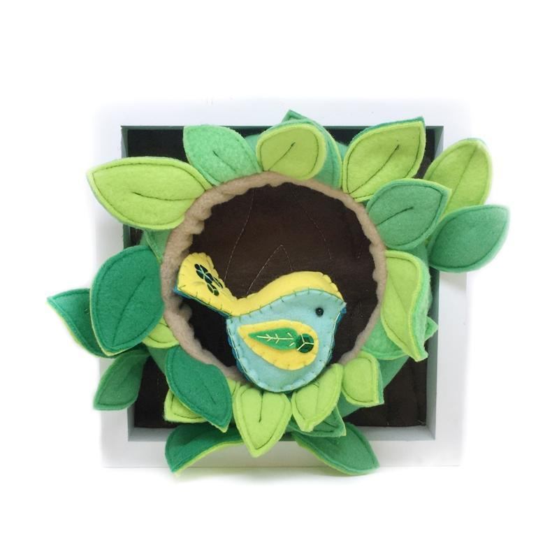 Wall Art - Bird Wreath Nest by World of Whimm