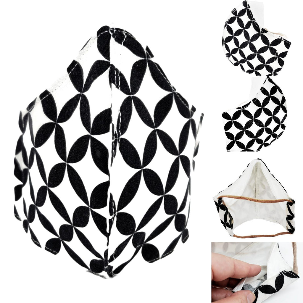 Small - Black and White Compass White Lining by imakecutestuff