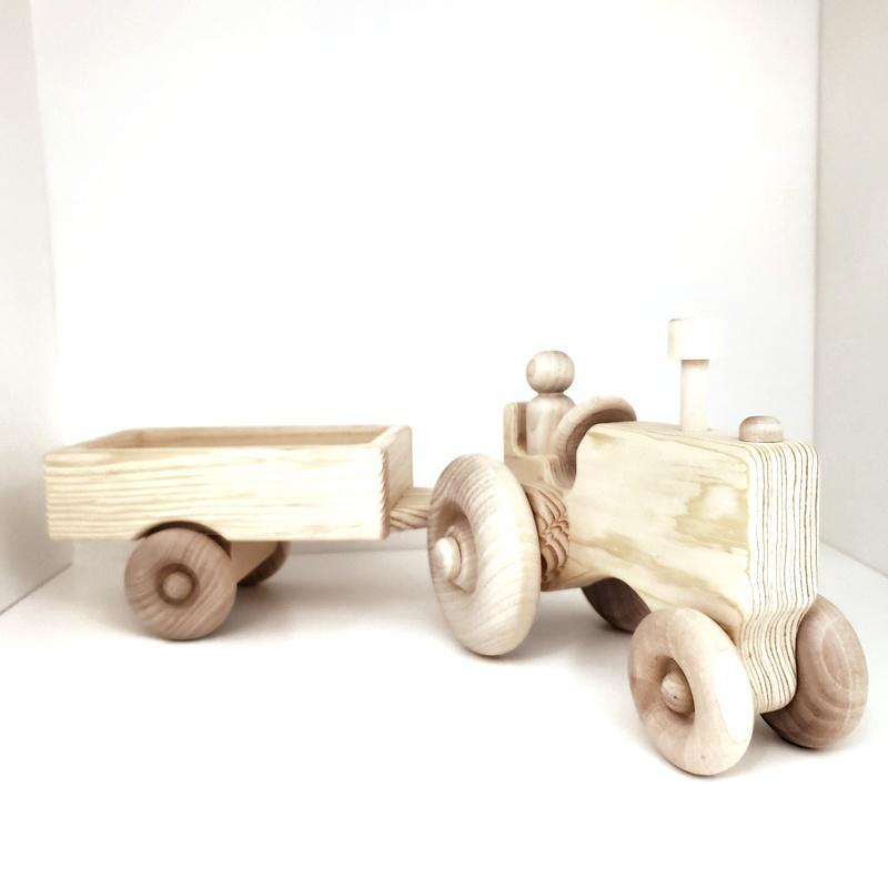 Finished Toy - Tractor and Wagon Wooden Toy by My Grandpa's Wooden Toys