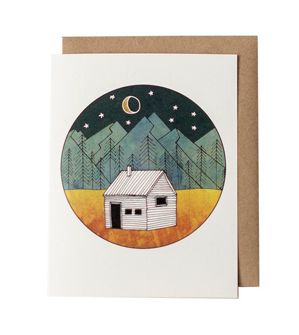 Card - Little Cabin by Red Umbrella Designs