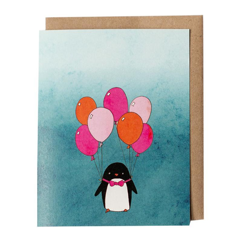 Card - Party Penguin by Red Umbrella Designs