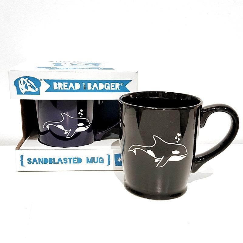 Mug - 16oz Black Orca (Retired) by Bread & Badger