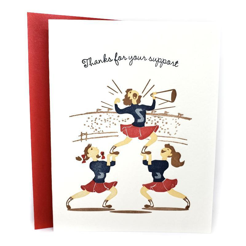Card - Thank You - Cheerleaders Thanks by Ilee Papergoods