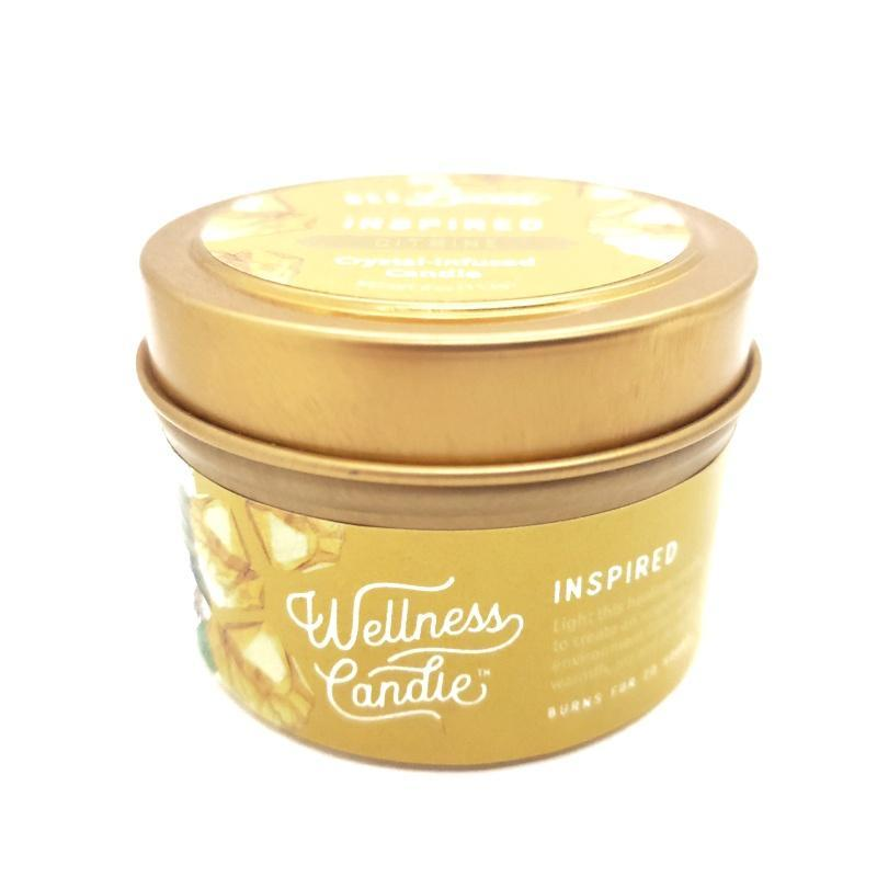 Candle 4oz - Citrine (Inspired) 4oz Travel Tin by Bee Lucia