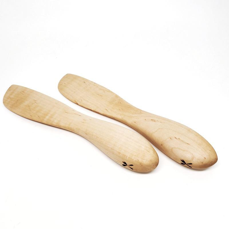 Cheese Knives - Small Maple Smooth by Meb's Kitchenwares