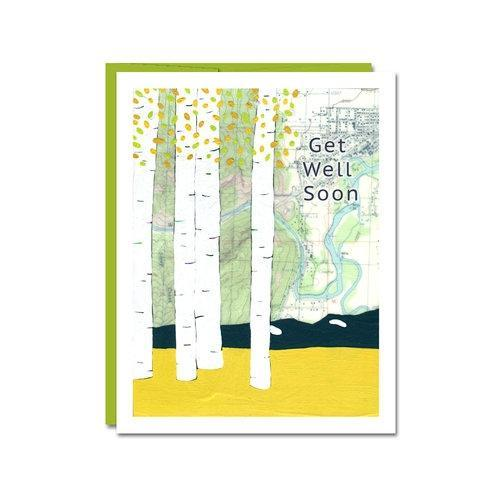 Card - Get Well - Get Well Soon by Rachel Austin Art