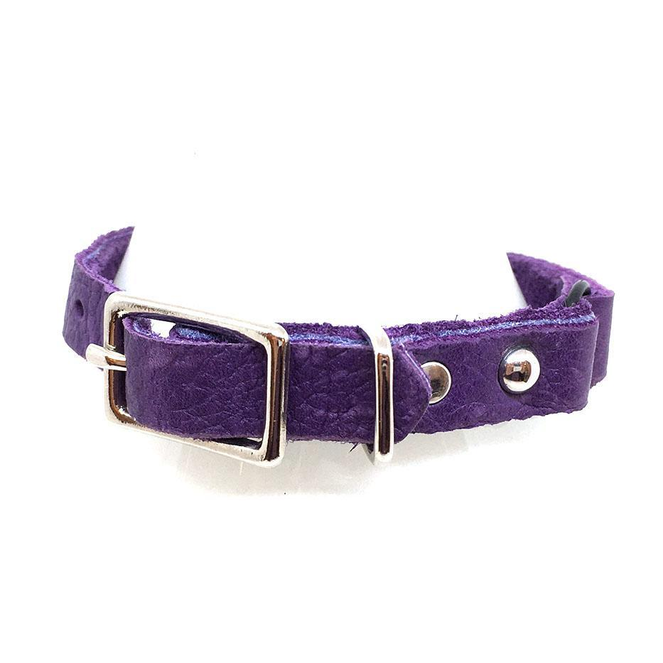 Cat Collar - Purple with Purple Gems by Greenbelts