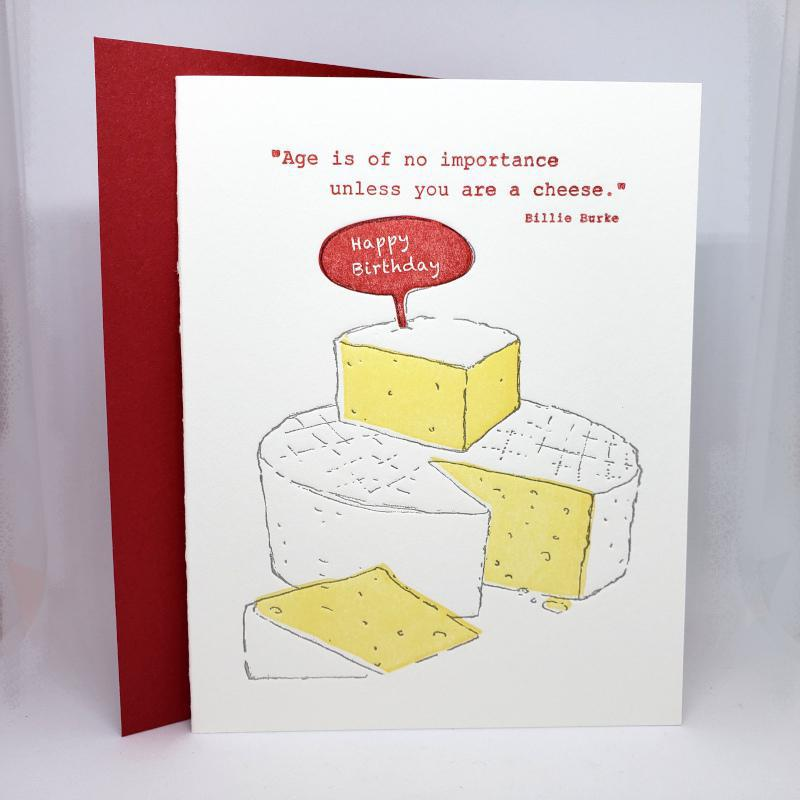 Card - Birthday - Cheese Birthday by Ilee Papergoods