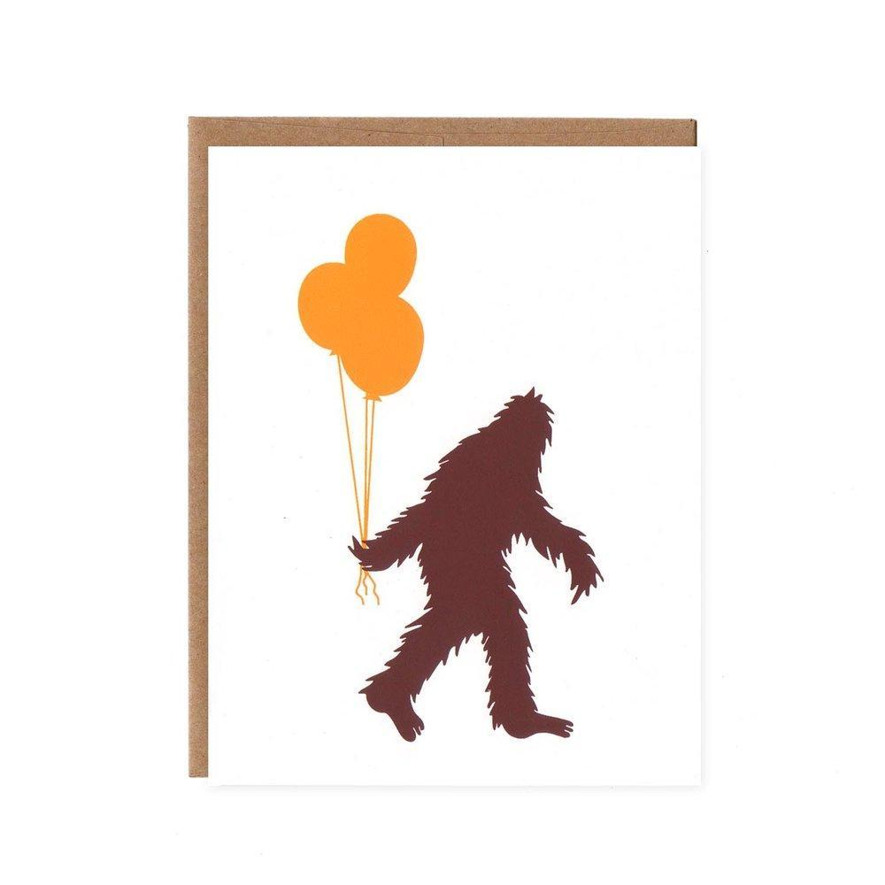 Card - Sasquatch & Balloons by Orange Twist