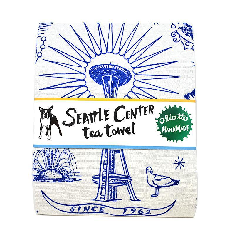Tea Towels - Seattle Center by Oliotto