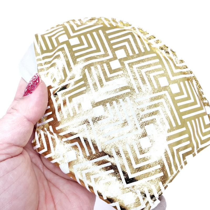 Large - Metallic Gold White Lining by imakecutestuff