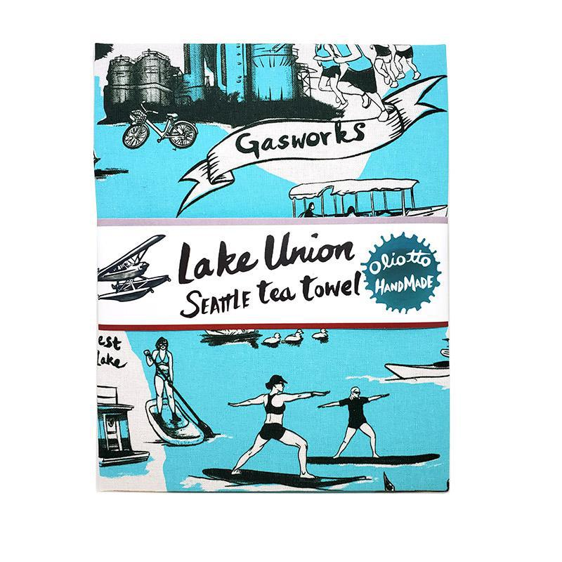 Tea Towels - Lake Union Blue by Oliotto