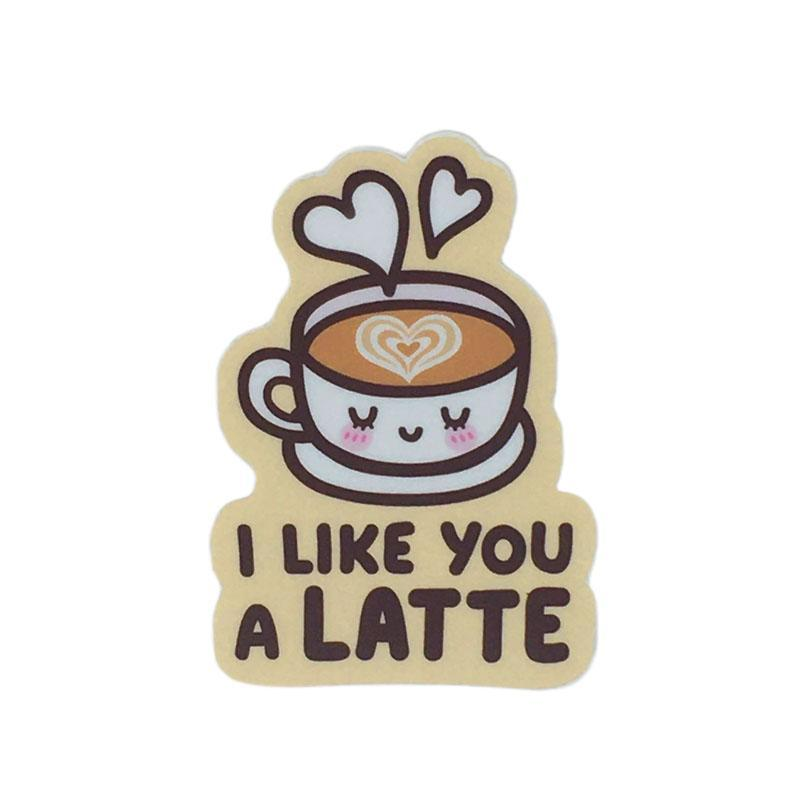 Vinyl Stickers - I Like You a LATTE by Mis0 Happy