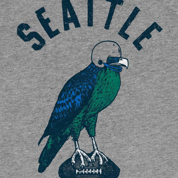 Adult SEABIRD(S) Crew Neck Tee Gray Triblend by Factory 43
