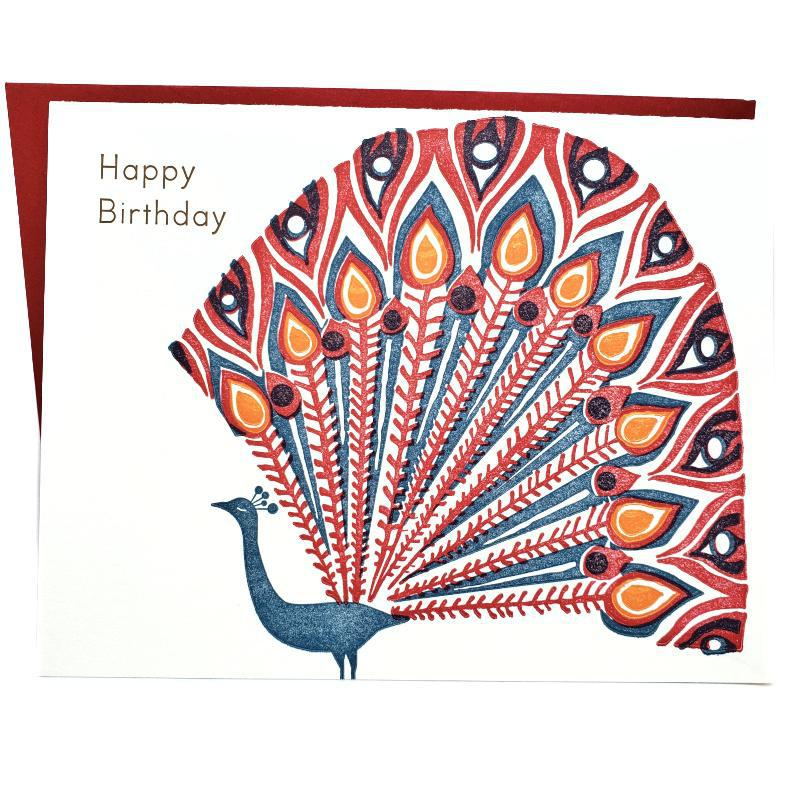 Card - Birthday - Peacock Happy Birthday by Ilee Papergoods