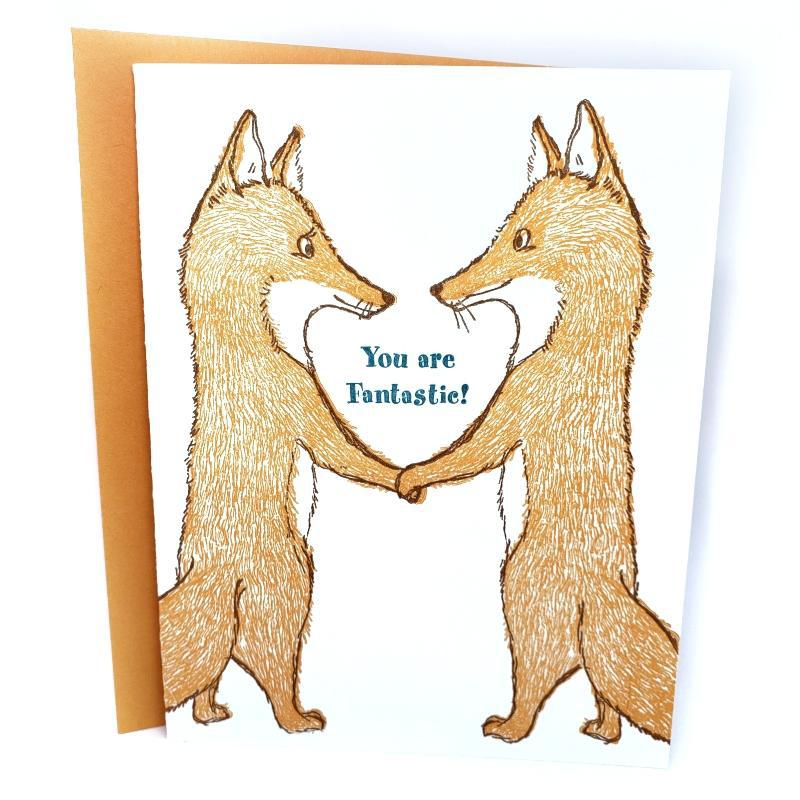 Card - Love & Friends - Foxes You're Fantastic by Ilee Papergoods