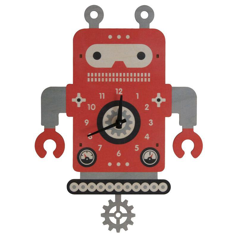 Clock - Robot Gear Pendulum by Modern Moose