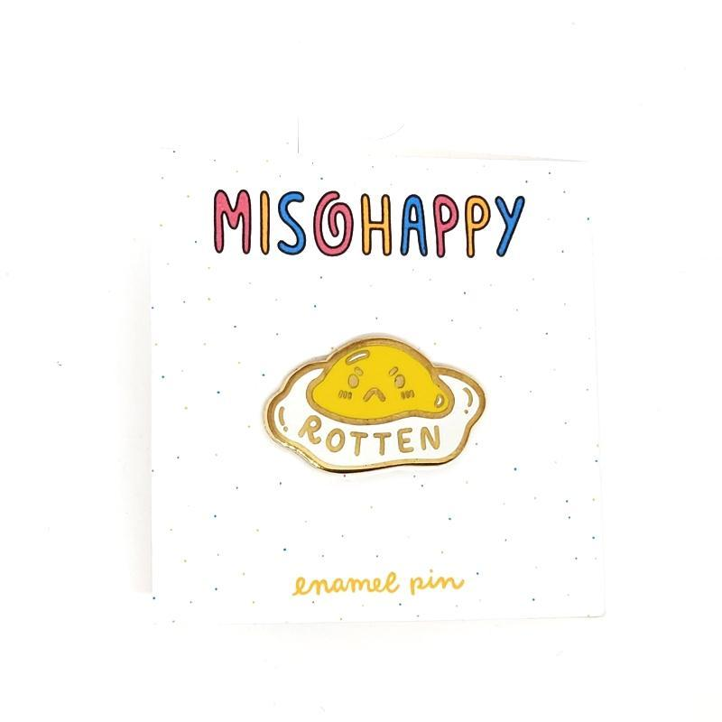 Enamel Pin - Rotten Egg by Mis0 Happy