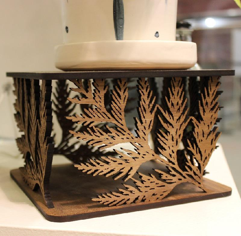 Plant Stand - Cedar Leaves by 6by6 Arts
