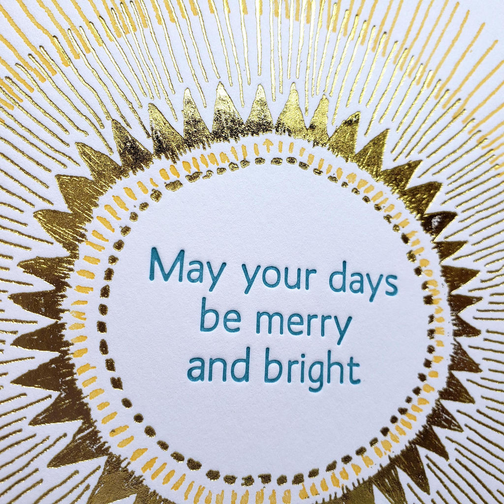 Set of 6 - Holiday Cards - Merry and Bright by Ilee Papergoods