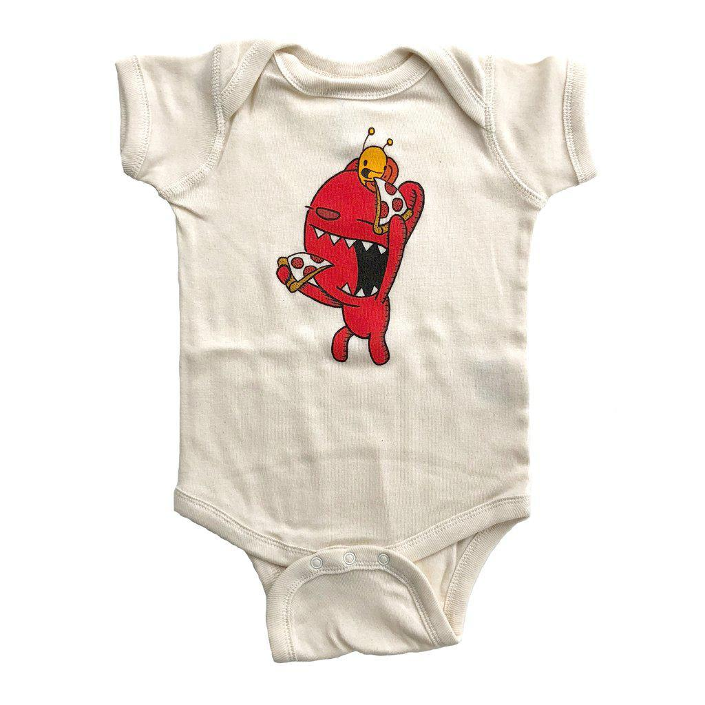Onesie - Pizza Pals (PP) Natural by Everyday Balloons Print Shop