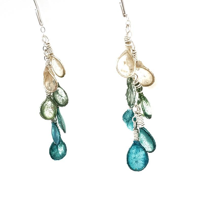 Earrings - Dewdrop Turquoise Glacier Ombre by VERSO
