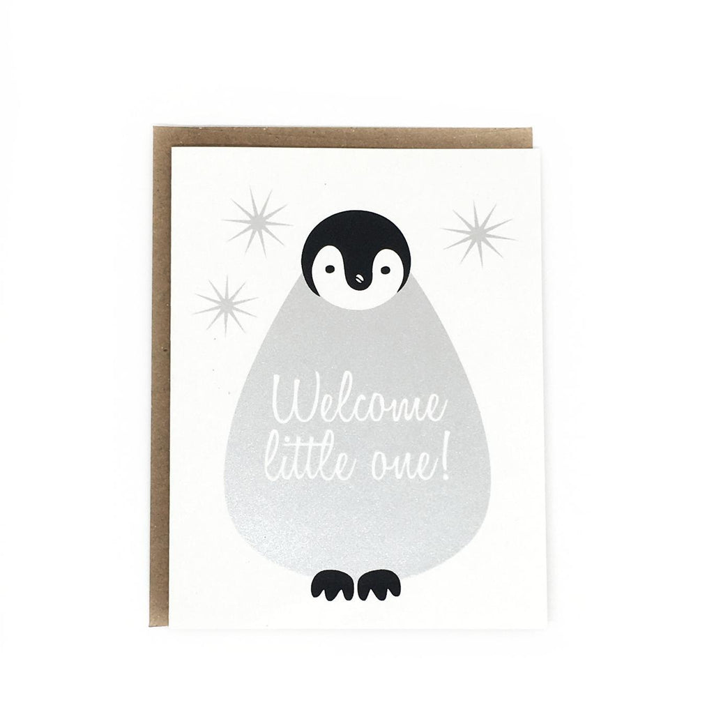 OT2504 $5 - Penguin Welcome Little One