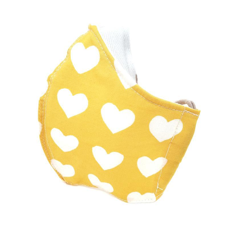 Medium - Hearts on Yellow White Lining by imakecutestuff