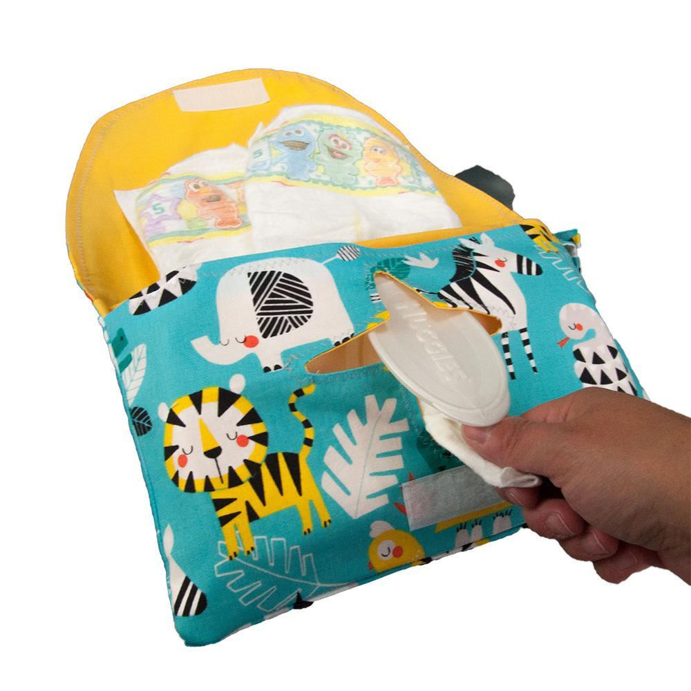 Diaper and Wipe Clutch - Funimals by MarshMueller