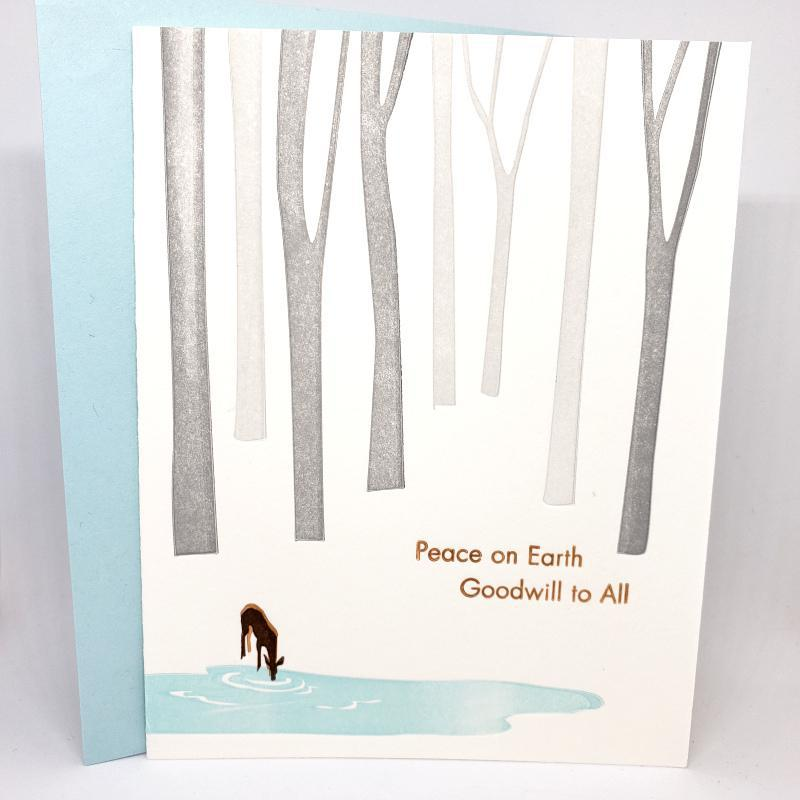 Card - Holiday - Deer Peace on Earth by Ilee Papergoods