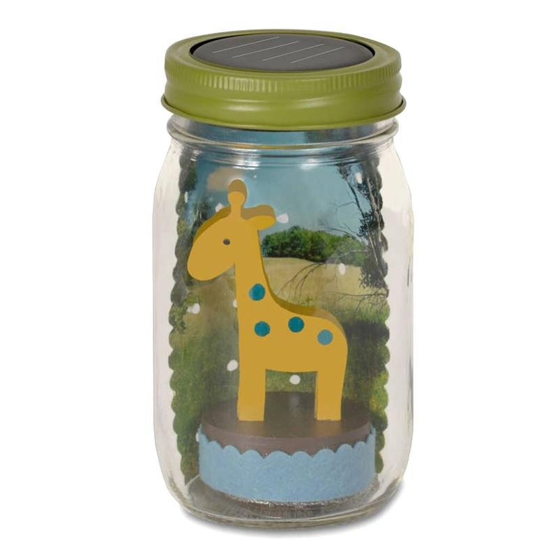 Solar Light - Mason Jar Giraffe by Tree by Kerri Lee