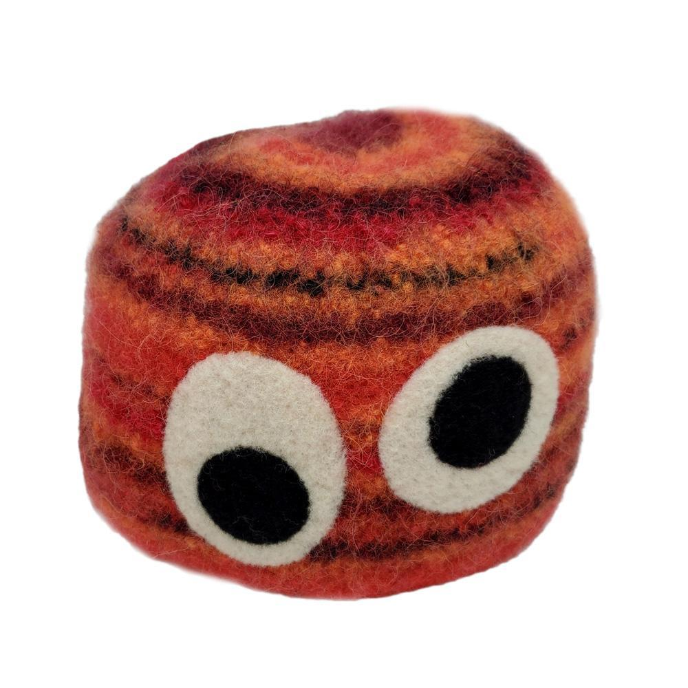 Hats - Red Stripes with Eyes (Small) by Snooter-doots