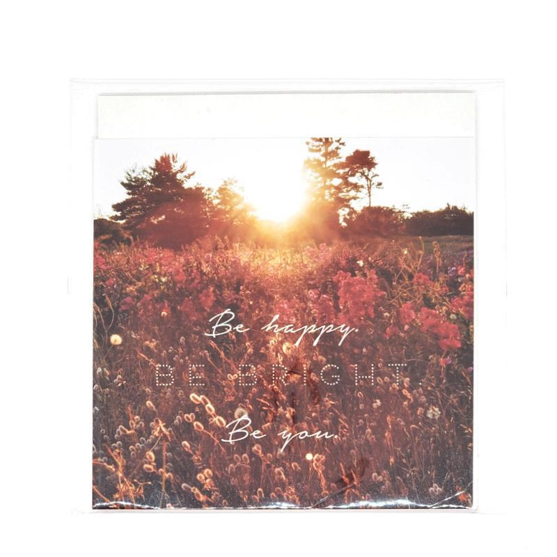 Art Print - 4x4 - Be Happy Be Bright Be You (Meadow) by Michaela Rose