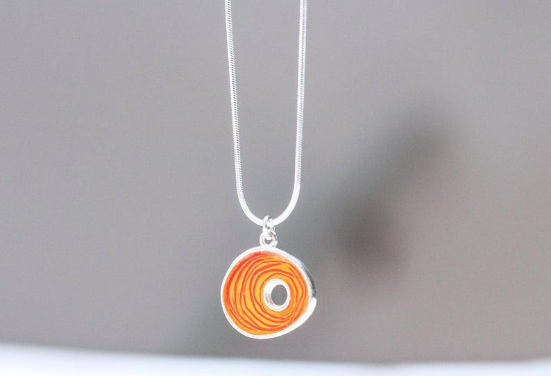 Necklace - Orange Nest by Happy Art Studio
