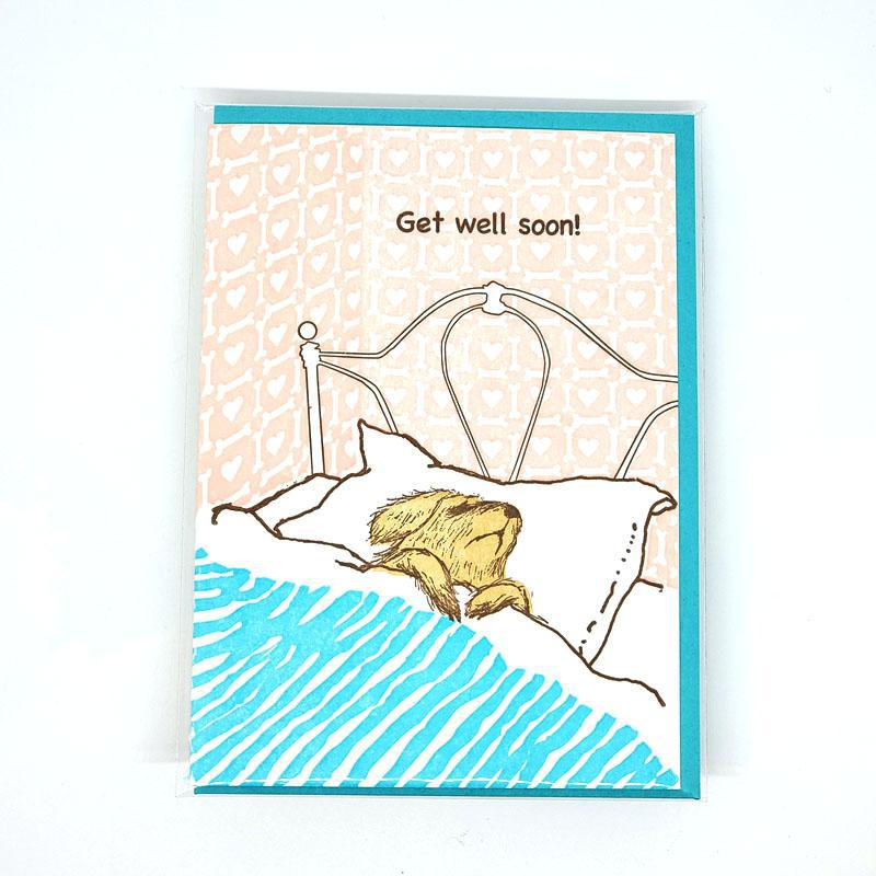Card - Get Well - Dog Get Well Soon by Ilee Papergoods