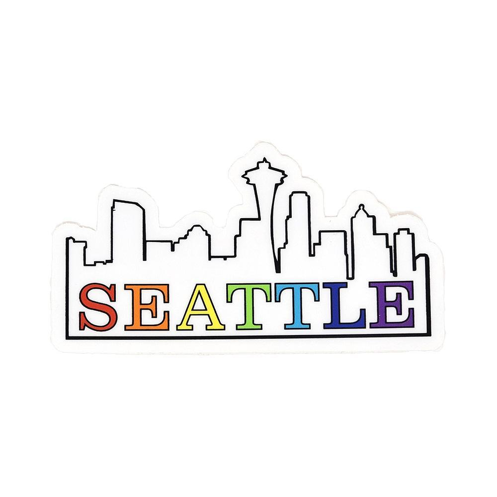 Sticker - Seattle Rainbow (Seattle in Rainbow Letters) by The Coloring Project