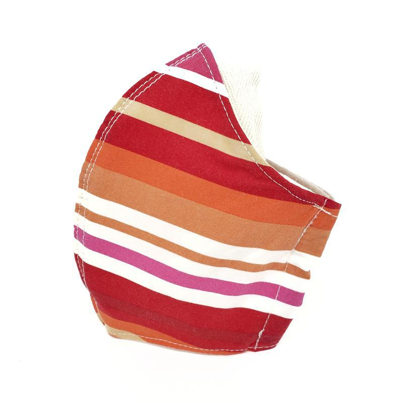 Medium - Red Orange Stripes with White Lining by imakecutestuff