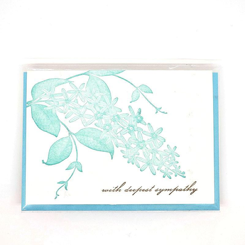Card - Sympathy - Orchid With Deepest Sympathy by Ilee Papergoods