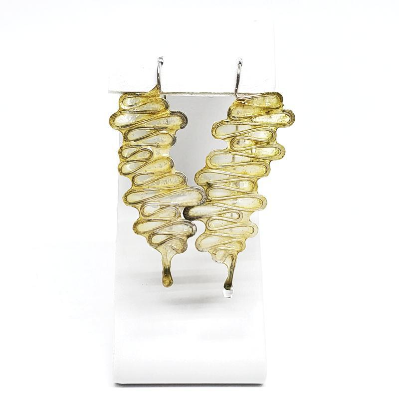 Earrings - Large Riverbend Mustard by Verso