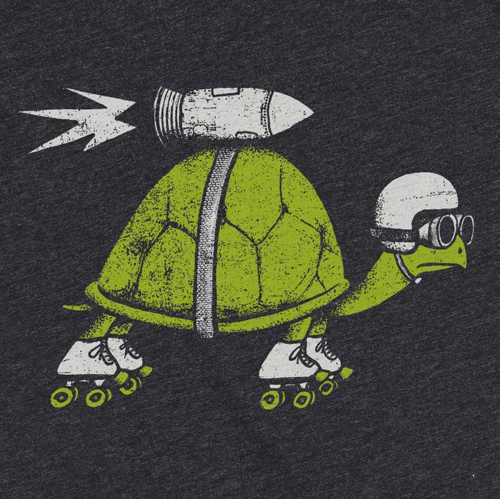 Adult ROCKET TURTLE(R) Crew Neck Tee Triblend by Factory 43
